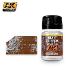 Producto weathering, heavy Chipping fluidos. Bote de 35 ml. Marca AK Interactive. Referencia: AK089.