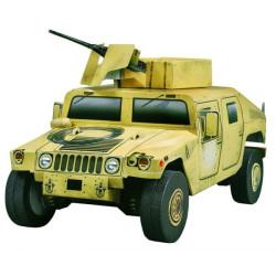 Hummer HMMWV. Puzzle 3D de Montaje. Serie de vehículos legendarios. Marca Clever Paper. Ref: 14163.