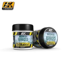 Producto weathering, gel para crear efectos de agua ( Water gel effects ). Bote de 100 ml. Marca AK Interactive. Ref: AK8007.