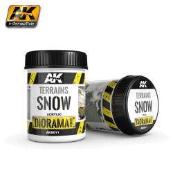 Producto weathering, nieve para terrenos ( Terrains snow ). Bote de 250 ml. Marca AK Interactive. Ref: AK8011.