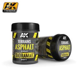 Producto weathering, efecto de asfalto,( Terrains asphalt ). Bote de 250 ml. Marca AK Interactive. Ref: AK8013.