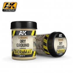 Producto weathering, Efecto de tierra seca ,(Terrains dry ground)). Bote de 250 ml. Marca AK Interactive. Ref: AK8015.