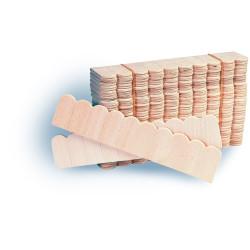 10 tejas de madera por tira, contiene 40 tiras. Marca Artesanía Latina. Ref: 11059.