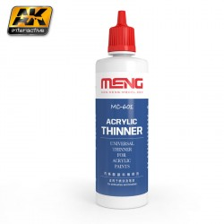 Thinner. Cantidad 100 ml. Marca AK Interactive. Ref: MC601.