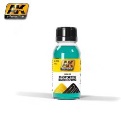 Liquido para pavonar fotograbados y latón ( Photo Etch Varnishing liquid ). Cantidad 100 ml. Marca AK Interactive. Ref: AK174.