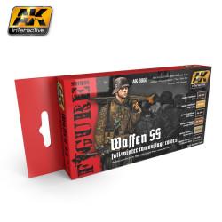 Set colores para uniforme de camuflaje WAffen SS, otoño/invierno. Marca AK Interactive. Ref: AK3050.