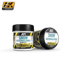 Producto weathering, Efecto nieve microballoons . Bote de 100 ml. Marca AK Interactive. Ref: AK8010.