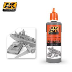 Ak Imprimación, gris. Bote de 60 ml. Marca AK Interactive. Ref: AK175.