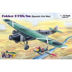 Set avión Fokker F.VIIb/3m ( Spanish Bomber ). Escala 1:72. Marca Valom. Ref: 72054.