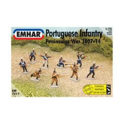 Figuras de Infanteria portuguesa y cazadores peninsular ( 1807-14 ). Escala 1:72.  Marca Emhar. Ref: EM7217.