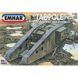 """ Tadpole MK IV, WWI "" Tanque con posterior mortero. Escala 1:72. Marca Emhar. Ref: EM5005."