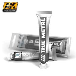 True metal, silver ( plata ). Marca AK Interactive. Ref: AK458.