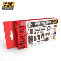 Set leather and buckles ( cuero y hebillas ). Marca AK Interactive. Ref: AK3030.