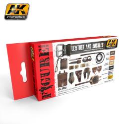 Set leather and buckles ( cuero y hebillas ). Marca AK Interactive. Ref: AK3030.