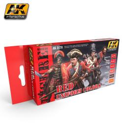 Set colores para uniformes rojos. Marca AK Interactive. Ref: AK3170.