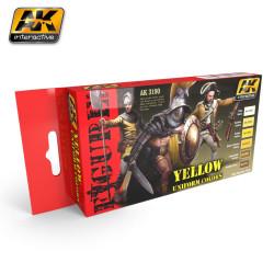 Set de figuras para uniformes de color amarillo. Marca AK Interactive. Ref: AK3190.