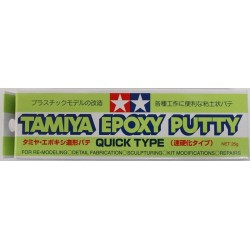 Masilla Epoxy Putty quick type, Masilla de modelar secado rápido. 25 gr. Marca Tamiya. Ref: 87051.