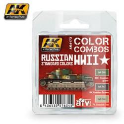 Set de colores standard ruso WWII. Marca AK Interactive. Ref: AK4173.