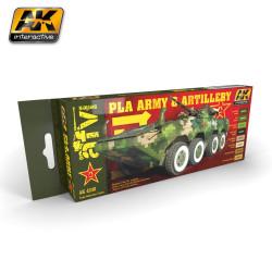 Set de colores de la artilleria y ejército PLA. Marca AK Interactive. Ref: AK4240.