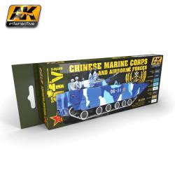 Set colores de vehículos de los marines de China y de las fuerzas Aerotransportadas. Marca AK Interactive. Ref: AK4250.