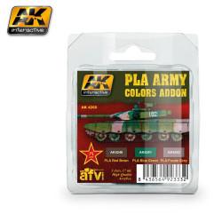 Set de colores de camuflaje del ejército PLA. Marca AK Interactive. Ref: AK4260.