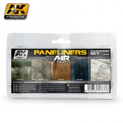 Set colores paneliners weathering. Marca AK Interactive. Ref: AK2070.