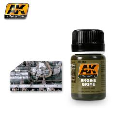 Engine grime, Suciedad motor. Bote de 35 ml. Marca AK Interactive. Ref: AK082.