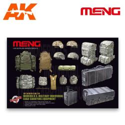 Militar individual moderno equipamiento y cargas. Escala 1:35. Marca Meng. Ref: SPS-015.