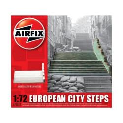 Escalinata de una ciudad europea WWII, en resina. Escala 1:72. Marca Airfix. Ref: A75017.