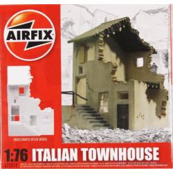 Casa de pueblo Italiano en Ruinas, en resina. Escala 1:76. Marca Airfix. Ref: A75014.