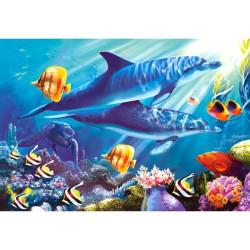 Puzzle el mundo debajo del mar. Puzzle 1500 piezas. Marca Castorland. Ref: C-150540.