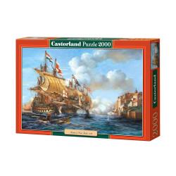 Puzzle Batalla de puerto Bello. Puzzle 2000 piezas. Marca Castorland. Ref: C-200245.