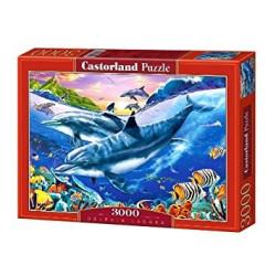 Puzzle Lago con delfines. Puzzle 3000 piezas. Marca Castorland. Ref: C-300259.
