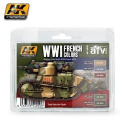 Set de colores francés WWI. Marca AK Interactive. Ref: AK4050.