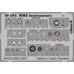 Fotograbado instrumentos WWI, 1/48. Marca Eduard. Ref: 49194.