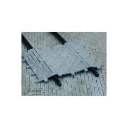 Adoquines flexibles. 4 piezas x 160 adoquines. Escala 1/45 y 1/48. Marca Juweela. Ref: 24115.