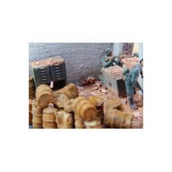 Bidones oxidados. 50 gr. Escala 1/72. Marca Juweela. Ref: 27171.