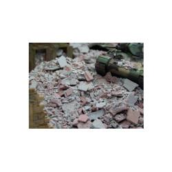 Escombros mezcla, rojizo y gris. 50 gr. Escala 1:72. Marca Juweela. Ref: 27166.