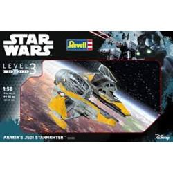 Anakin´s Jedi Starfighter, Star Wars. Escala 1:58. Marca revell. Ref: 03606.