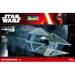 Tie Interceptor, Star Wars. Escala 1:90. Marca revell. Ref: 03603.