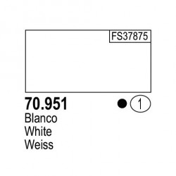 Acrilico Model Color, Blanco, ( 001 ). Bote 17 ml. Marca Vallejo. Ref: 70.951.