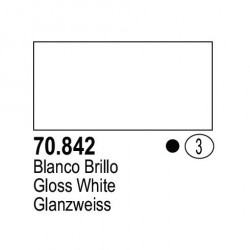 Acrilico Model Color, Blanco brillo, ( 003 ). Bote 17 ml. Marca Vallejo. Ref: 70.842.