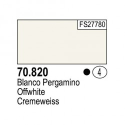 Acrilico Model Color, Blanco pergamino, ( 004 ). Bote 17 ml. Marca Vallejo. Ref: 70.820.