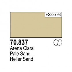 Acrilico Model Color, Arena clara, ( 007 ). Bote 17 ml. Marca Vallejo. Ref: 70.837.