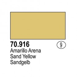 Acrilico Model Color, Amarillo arena, ( 009 ). Bote 17 ml. Marca Vallejo. Ref: 70.916.