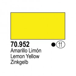 Acrilico Model Color, Amarillo limón, ( 011 ). Bote 17 ml. Marca Vallejo. Ref: 70.952.
