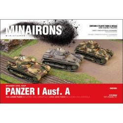 Carro ligero Panzer I Ausf. A., contiene 3 carros y sus calcas. Escala 1:72. Marca Minairons miniatures. Ref: 20GEV002.