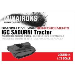 Tractor IGC Sadurní de Noya. Escala 1:72. Marca Minairons miniatures. Ref: 20GER014.