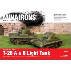 Carro ligero T-26 modelos A y B. Escala 1:72. Marca Minairons miniatures. Ref: 20GEV005.