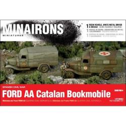 Ford Bibliobús o ambulancia AA. Escala 1:72. Marca Minairons miniatures. Ref: 20GEV024.